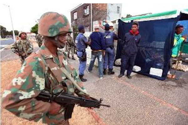 Pointless exercise deploying the army in the Cape as 47 more murders take place. Photo: Die Vryburger