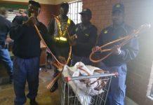 Copper cable theft, suspect arrested, Pretoria. Photo: SAPS