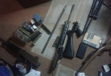 Trio crime suspect found with large arms stash, Lephalale cluster. Photo: SAPS