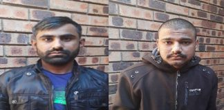 2 Arrested for human trafficking of 4 Bangladesh nationals, Nelspruit. Photo: SAPS