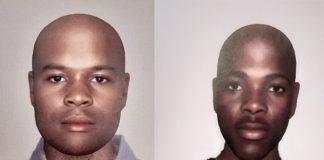 Identikits : Kimberley armed robbers sought. Photo: SAPS