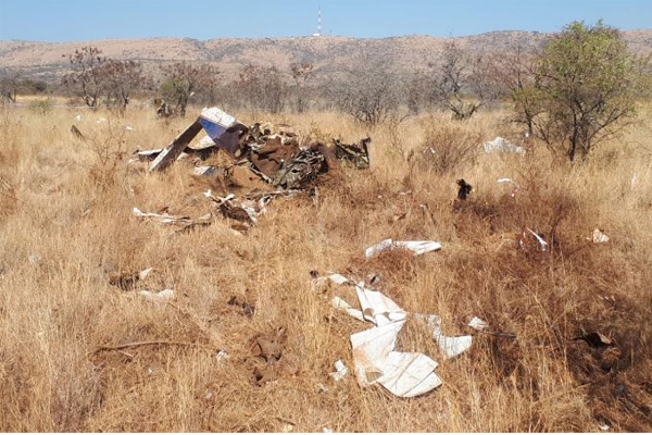 Two die in plane crash near Hartbeespoort Dam. Photo: Arrive Alive