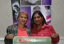 Rape Crisis Centre director Berenice Jacobs-Malgas (left) and SPAR Eastern Cape advertising manager Roseann Shadrach promote the SPAR Women's Month campaign which will run during August. Photo: Full Stop Communications