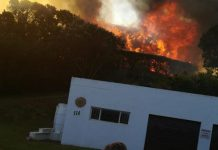St Francis Bay blaze, 13 houses affected, police probe arson. Photo: SAPS
