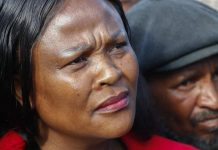South African Public Protector Busisiwe Mkhwebane listens to public complaints in Cape Town. EPA-EFE