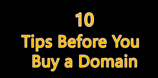 10 Tips Before You Buy a Domain Name