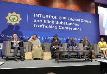 Interpol, global drugs, trafficking in illegal substances conference, Cape Town. Photo: SAPS