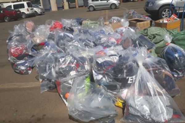 Major blow for counterfeit goods traders, Dragon City, Fordsburg. Photo: SAPS