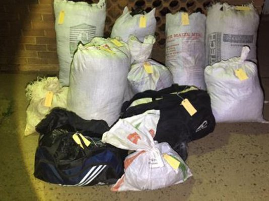 Dagga smugglers nabbed with huge consignments, KZN. Photo: SAPS