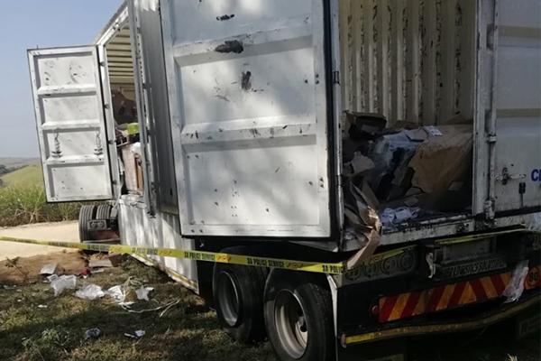 KZN South coast operation recovers firearms, hijacked truck. Photo: SAPS