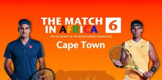 Roger Federer and Rafael Nadal - Cape Town Stadium in Cape Town