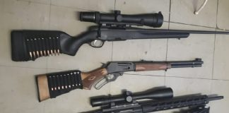 Burglary: 9 Firearms stolen, 3 recovered, one suspect arrested, Erasmia. photo: SAPS