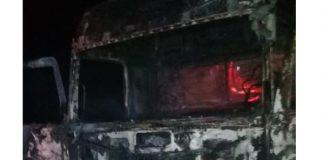 Another four trucks petrol bombed overnight. Photo: BKA