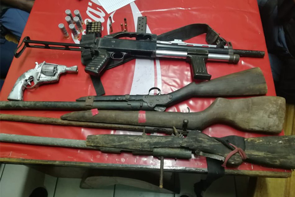 Man arrested with five unlicensed firearms, KZN. Photo: SAPS