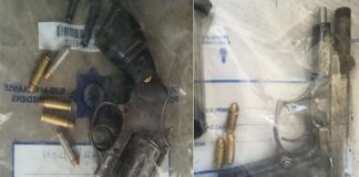 Unlicensed firearms, illegal mining equipment recovered, Krugersdorp. Photo: SAPS
