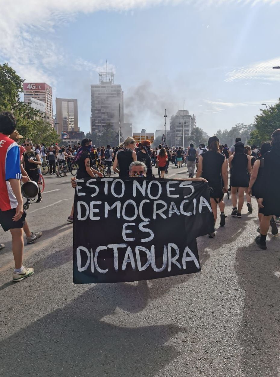 Protesters in Chile