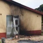 Farm attack, mob attack and petrol bomb farmhouse, Inanda. Photo: RUSA
