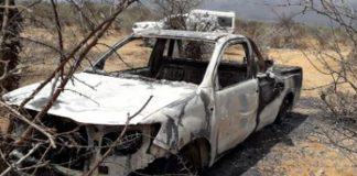 South African savage mob justice: Men hacked to death and burned. Photo: SAPS