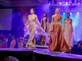 Models display some of the designer garments on show at the SPAR Eastern Cape Fashion Extravaganza, presented by Jason Kieck, at the Boardwalk in Port Elizabeth this weekend. Photo: Leon Hugo