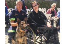 Police dog 'Misty' befriends people with disabilities, PE