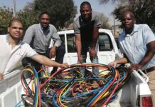 Destroying infrastructure, suspect nabbed with R400k worth of copper cables. Photo: SAPS
