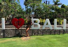 Motsoaledi Setumo living her best life in Bali