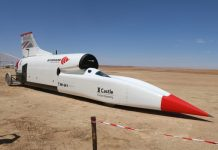 'Bloodhound' land speed record car launched in Northern Cape. Photo: SAPS