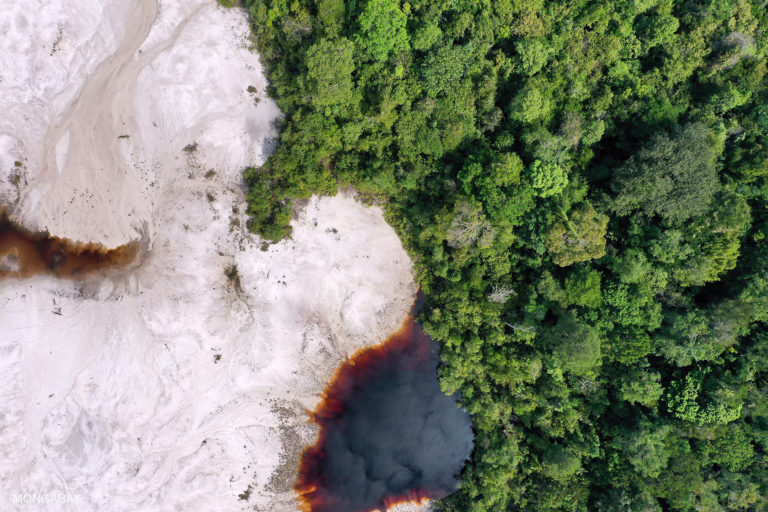 Gold and sand mining near Mandor, West Kalimantan, Indonesian Borneo. Photo by Rhett A. Butler.