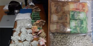 Drugs stash and stolen property recovered, Bellville. Photo: SAPS