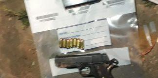 Suspect arrested with stolen firearm, Bethelsdorp. Photo: SAPS