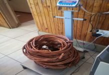 Copper cable thieves arrested, Paballelo. Photo: SAPS