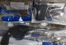 Drug dealer arrested with 2 unlicensed firearms, Humansdorp. Photo: SAPS