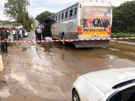 Bus driver shot dead, Redcliffe. Photo: RUSA
