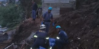 150 Shacks destroyed by fire, Cato Crest settlement. Photo: SAPS