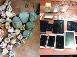 Drugs and phones recovered, Harare, CT. Photo: SAPS