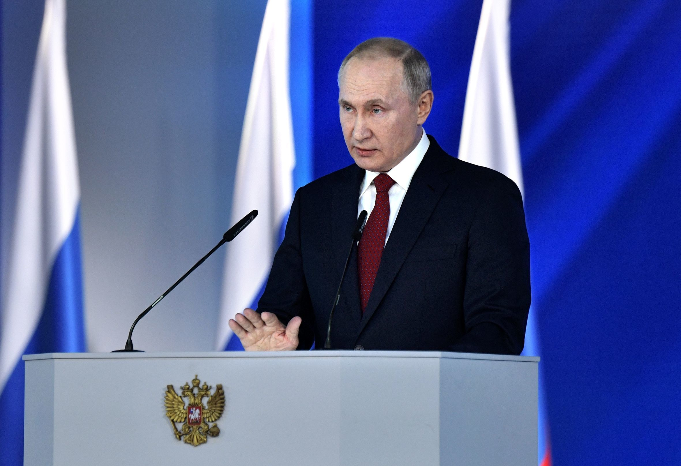 Russian President Vladimir Putin's annual address to to the Federal Assembly