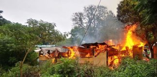 Informal homes destroyed in fire, Canelands. Photo: RUSA