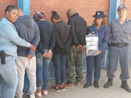 Kimberley visible policing arrest four suspects for car hijacking. Photo: SAPS