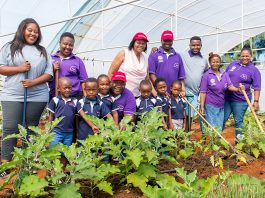 Community centre with food garden at its centre helps girl realise her dreams