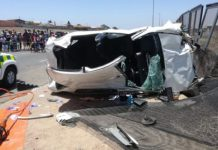 Vredenburg business robbery: Fleeing suspects crash, 1 dies, 4 injured. Photo: SAPS