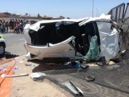 Vredenburg business robbery: Fleeing suspects crash, 1 dies, 4 injured. Photo: SAPS