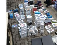 R900k worth of stolen goods recovered, port of entry, Westenburg. Photo: SAPS