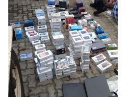 R900k worth of stolen goods recovered, port of entry, Westenburg. Photo: SAPS
