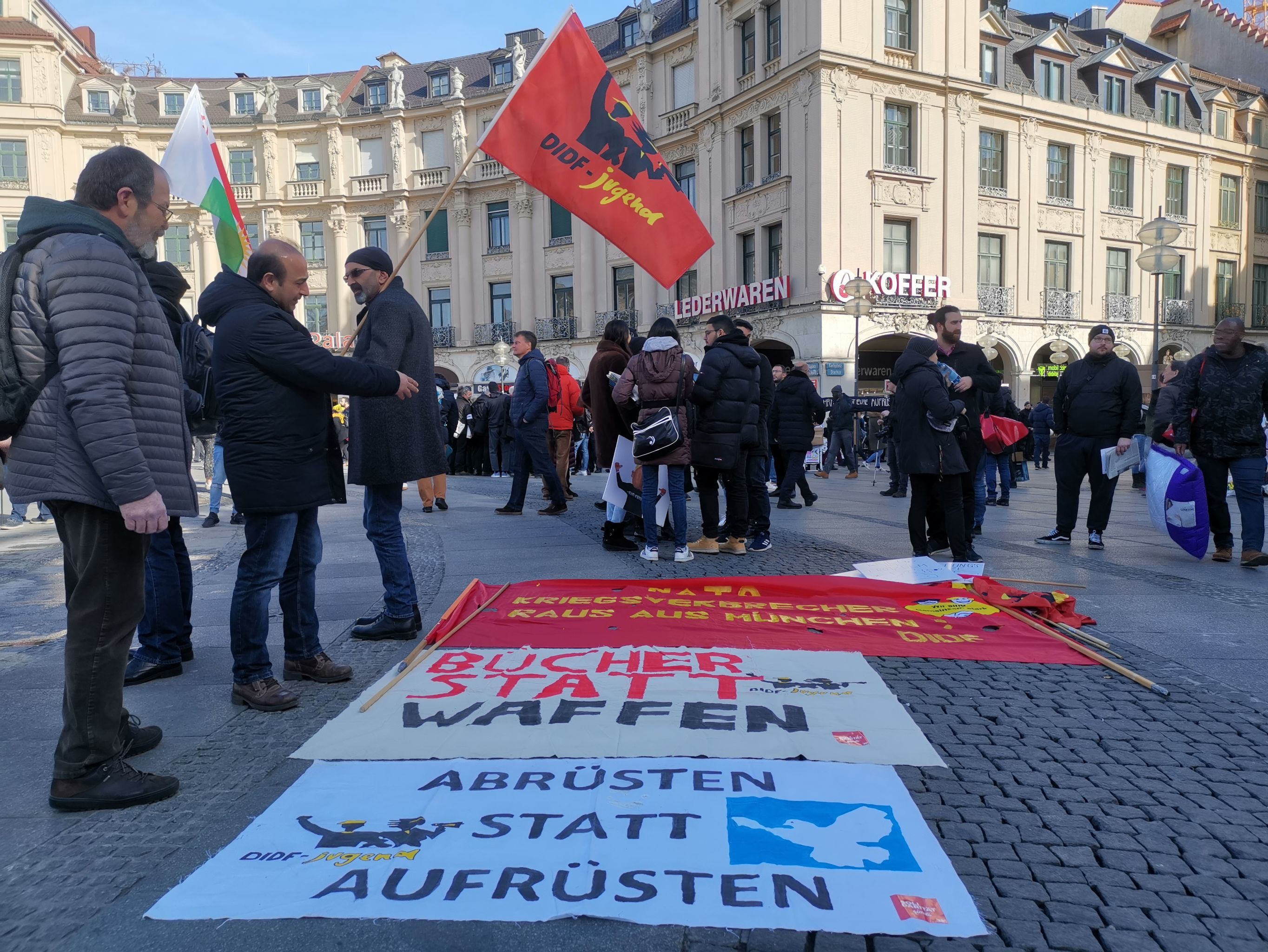 Activists rally in Bavarian capital against Munich Security Conference, 15 February 2020