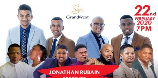 Cape Town gospel singer Jonathan Rubain aiming to sell out Grand Arena in The Mother City this weekend for a second year running