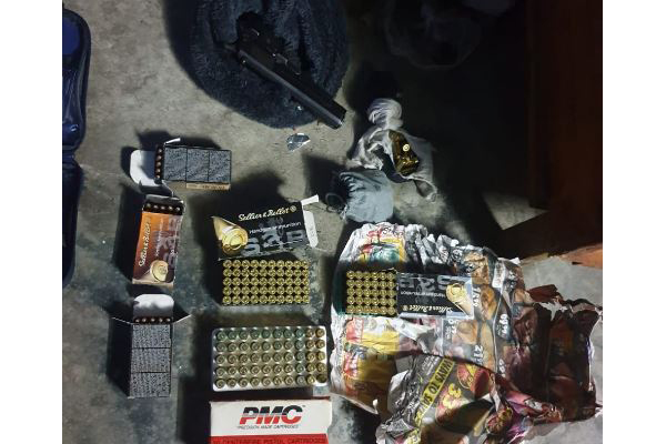 Stolen Langebaan firearm and ammunition recovered, Mitchells Plain. Photo: SAPS