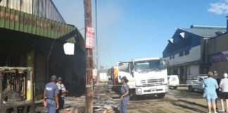 Arson: String of shops set on fire, Butterworth. Photo: SAPS