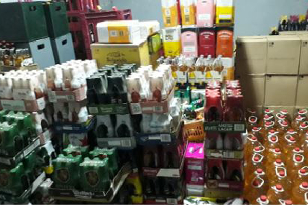 Lockdown: Liquor store owner arrested, R1 million worth of goods confiscated. Photo: SAPS