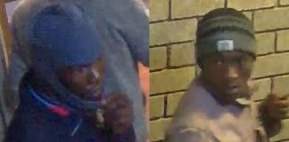 Armed robbers caught on camera, Orkney 'gold plant'. Photo: SAPS