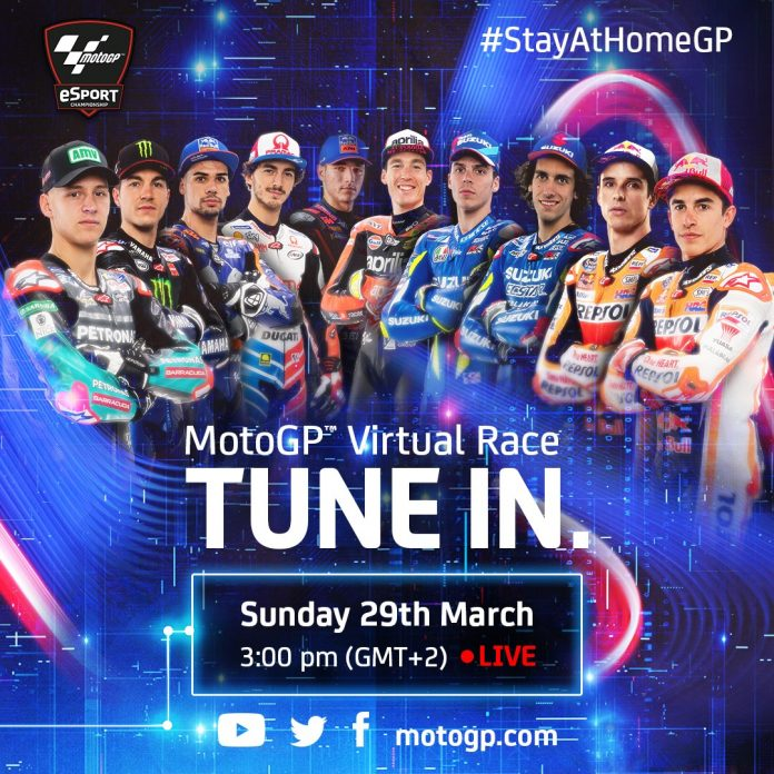 #StayAtHomeGP MotoGP™ Virtual Race between top riders using MGP19